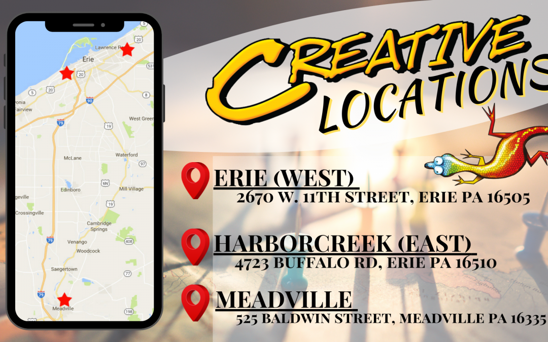 Creative Directions- How to find our Meadville Office!